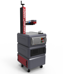 Laserator PORTY Class-IV Mobile Fiber Laser Marking Machine with Manual Z Axis